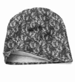 Melat32 designerska czapka jesienna motyle zieleń czapki mela