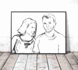 annasko? plakat minimalizm grafika skandynawski sypialnia salon