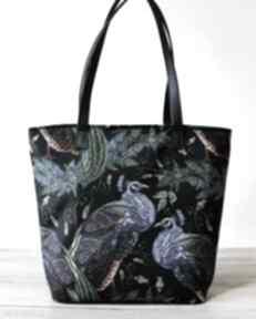 Pomysły na prezenty święta. Shopper bag bucket - pawie na ramię