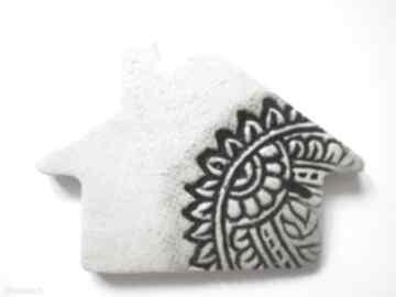 Magnes domek magnesy ceramika ana ceramiczny, ozdoba, dom
