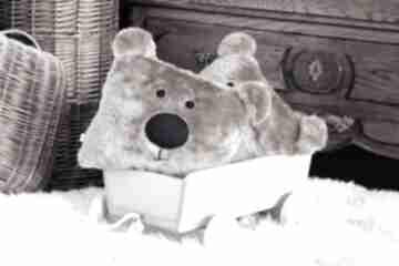 Miś futerkowa poduszka pokoik dziecka margi studio miś, poduszka