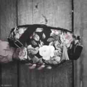Nerka xxl róże vintage nerki zapetlona nitka kwiaty, vintage