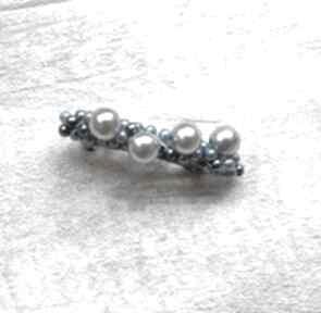 Perełkowa spinka ozdoby do włosów fascynatory spoinka, perły,