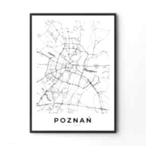 Mapa poznań - plakat 40x50 cm plakaty hogstudio mapa, plakat,