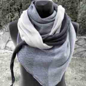 Chusta ombre bawełniana w odcieniach niebieskiego, duża chustki