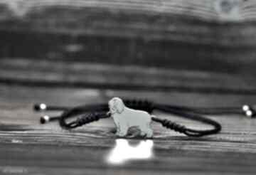 Polski owczarek nizinny pon - bransoletka, srebro 925 pasja