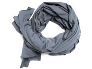 Niebieski szalik szal bawełniany, duży damski chusta, modny