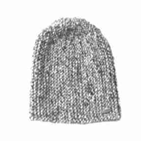 Czapka #30 czapki mondu melanżowa, wełniana, dziergana, unisex