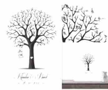 Nowy design drzewo wpisów gości weselnych księgi kreatywne