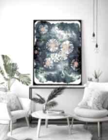 Maki a3 malgorzata domanska kwiaty, łąka, obraz, plakat,