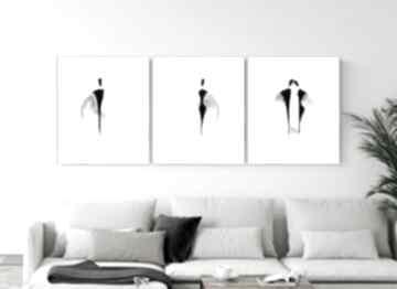 ART Krystyna Siwek Zestaw 3 grafik 40x50 cm wykonanych