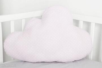 Duża poduszka chmurka różowa w kropeczki pokoik dziecka nunli