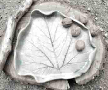 Ceramiczna patera, liść c218 ceramika shiraja ceramiczna
