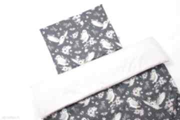 Komplet kołderka z poduszką 100x75cm sowy dla dziecka ladalla