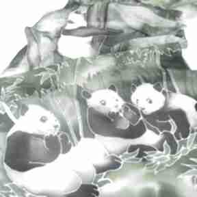 Szal jedwabny panda chustki i apaszki minkulul jedwabny, jedwab