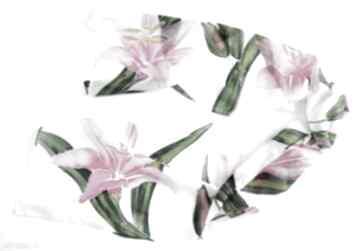 Jedwabny malowany szal - lilie szaliki jedwab lilie, w-lilie