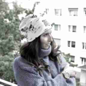 Kolorowa czapka w pieski unisex czapki godeco czapka, beanie