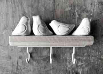 Wylegarnia pomyslow: ceramika wieszak drewno ptaszki