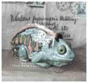 Kameleon figurka ceramika wylegarnia pomyslow ceramika,