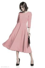 Elegancka sukienka maxi z zamkiem krytym, t327, malinowa