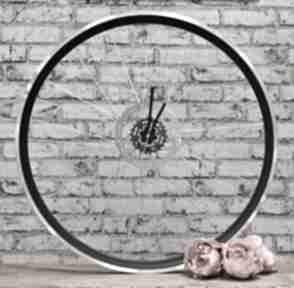 Zegar z koła blackout zegary bikes bazaar zegar, industrialny