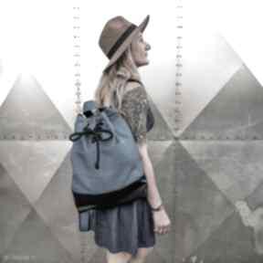 Plecak lazurowe wybrzeże godeco plecak, pojemny niebieski worek