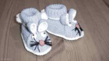 Kapciuszki - niebieskie króliczki buciki tiny feet dziecięce