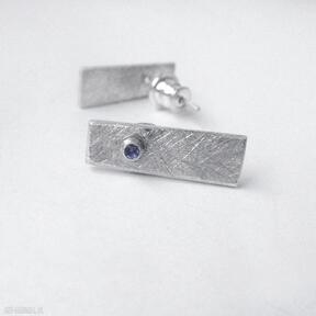 Okrąg kolczyki katarzyna kaminska srebro, cyrkonia,