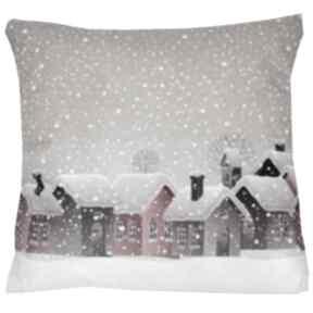 Pomysł na upominek świąteczny? Poduszka zimowa wzór 3 poduszki