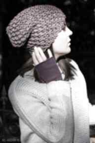 Czapka handmade czapki hermina hand made, robiona na drutach
