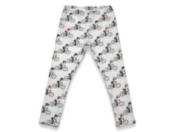 Rowery spodnie dla dziewczynki, bawełniane legginsy z dresówki
