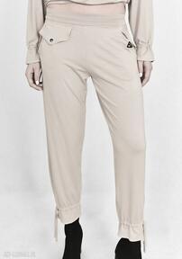Spodnie jola luźne beżowe trzyforu spodnie, komplet, bluzka