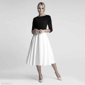 spódnice Spódnica STAR Total Midi Biel bawełna