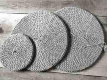 Komplet 3 okrągłych podkładek podkładki splociarnia podkładki,