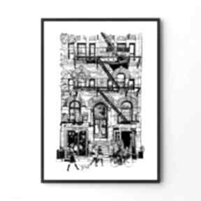 Plakat obraz avenue 40x50 cm hogstudio ilustracja, grafika