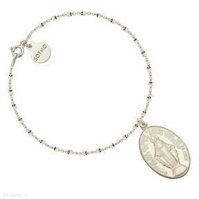 Złota bransoletka medalikiem naszyjnik łańcuszek medalik modowy