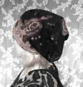 czapki: czapka etno boho ciepła włoska sztruks