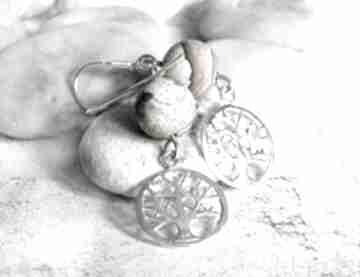 Srebrne kolczyki z jaspisami silvella kolczyki, wiszące, długie