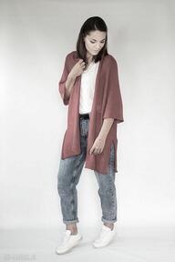Czerwony kardigan 013 swetry hermina kardigan, oversize, sweter