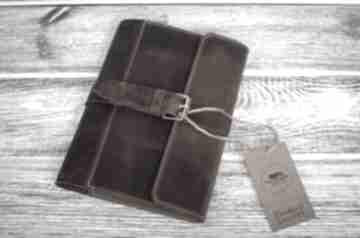 Ręcznie robiony skórzany notes, okładka na zeszyt format a5