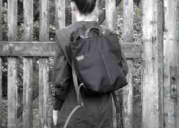 Rowelove simple czerń grafit mini manufakturamms plecak, casual
