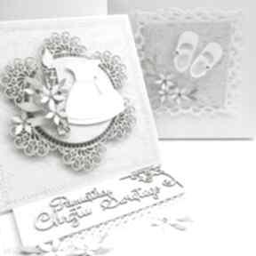 Chrzest - kartka sztalugowa w pudełku scrapbooking kartki