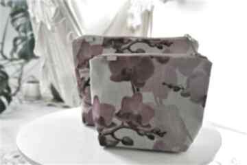 kosmetyczkivegan kosmetyczka print kwiaty len eko