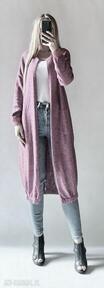 Bomberka długi sweter z kieszeniami swetry feltrisimi elegancki