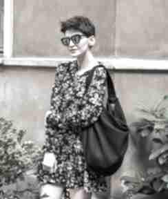 Czarna torba duży worek na ramię bags philosophy worek, duża