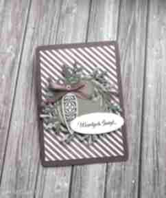 Świąteczne prezenty? Świąteczny wianek scrapbooking kartki