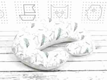 Duża poduszka do karmienia -pawie pióra dla dziecka nuvaart