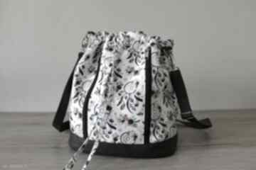 Plecak worek torba - łapacze snów na białym tle torebki