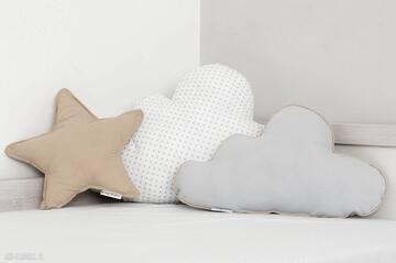 Zestaw 3 poduch musztardowo-biały pokoik dziecka nunli poduszka