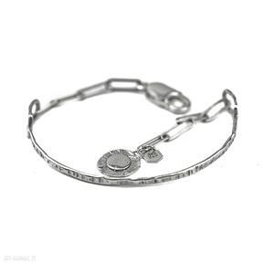 Zgustem bransoletka srebrna, minimalistyczna bransolet, 925